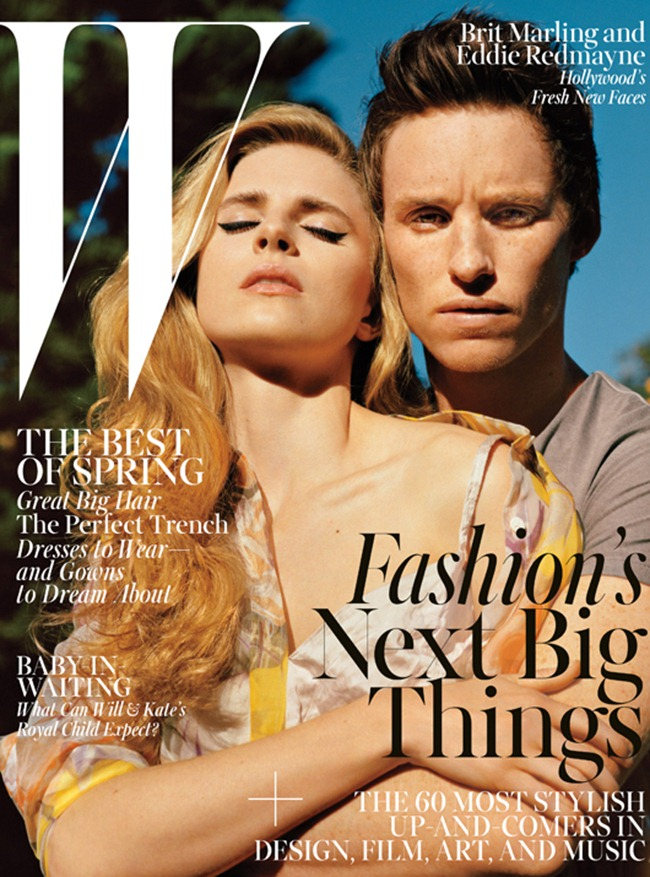 W MAGAZINE- Brit Marling, Eddie Redmayne & Emayatzy Corinealdi IN The New Guard Hollywood's Freshest Faces by Alasdair McLellan. Edward Enninful, April 2013, www.imageamplified.com, Image Amplified (7)