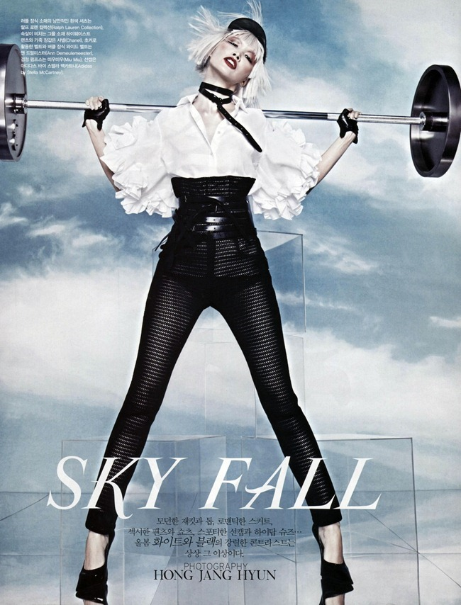"VOGUE KOREA: Kyung Ah Song in ""Skyfall"" by Photographer Jang Hyun"