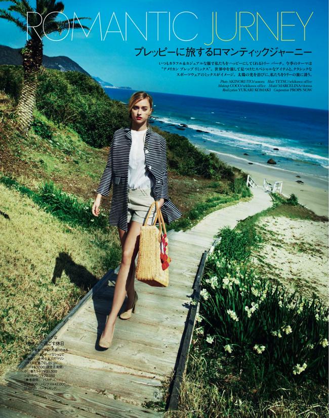 ELLE JAPAN- Marcelina Sowa in Romantic Journey by Akinori Ito. Yukari Komaki, May 2013, www.imageamplified.com, Image Amplified