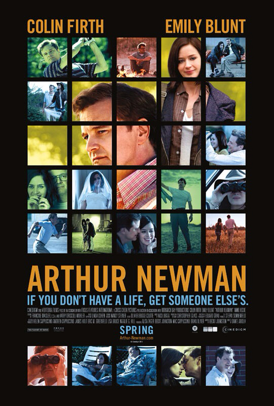 CINEMA SCAPE: Arthur Newman by Dante Ariola Starring Emily Blunt, Colin Firth & Anne Heche. In Theaters April 26, 2013
