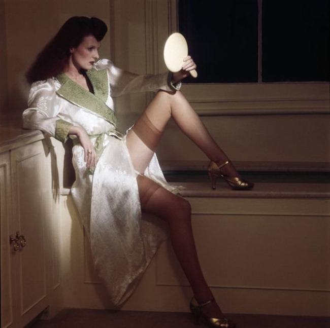 WE ♥ GRACE CODDINGTON- Grace on Stockings, 1974 by Willie Christie. www.imageampilfied.com, Image Amplified
