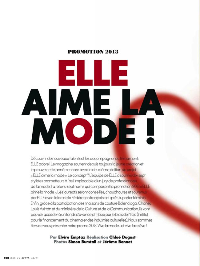 ELLE FRANCE- Cora Emmanuel in Elle Aime La Mode by Simon Burstall. Chloe Dugast, April 2013, www.imageamplified.com, Image Amplified (1)