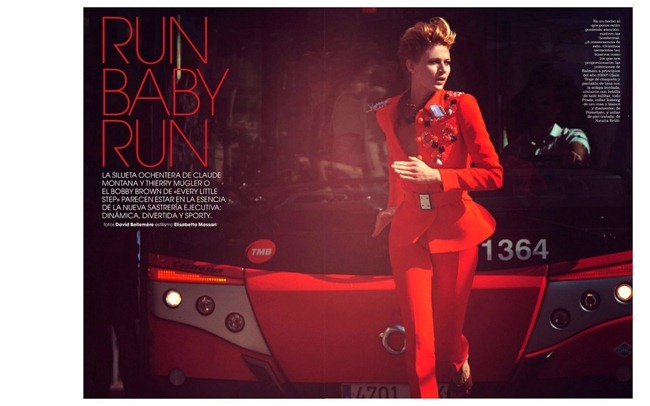 MARIE CLAIRE SPAIN- Michelle Buswell in Run Baby Run by David Bellemere. Elisabetta Massari, October 2012, www.imageamplified.com, Image Amplified (2)