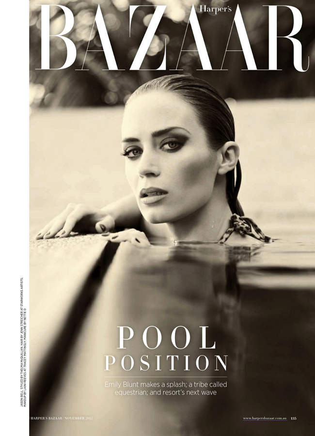 HARPER'S BAZAAR AUSTRALIA- Emily Blunt in Blunt Force by Jason Bell. Thelma McQuillan, November 2012, www.imageamplified.com, Image Amplified (1)