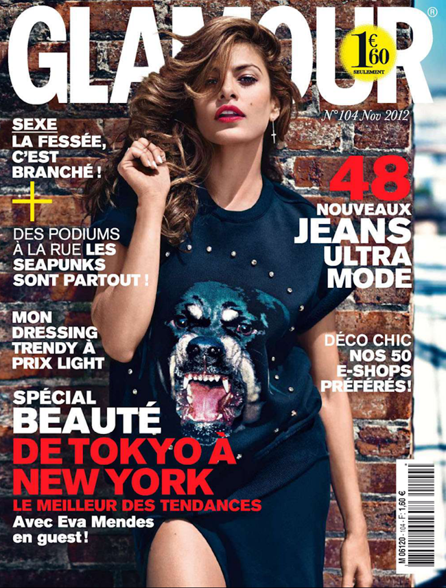 GLAMOUR FRANCE- Eva Mendes by Patrik Sehlstedt. Sebastien Cambos, November 2012, www.imageamplified.com, Image Amplified