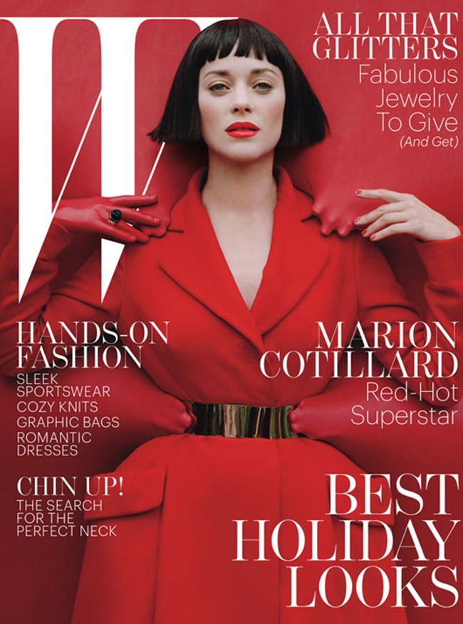 W MAGAZINE- Marion Cotillard in Red Hot by Tim Walker. Jacob K, December 2012, www.imageamplified.com, Image Amplified