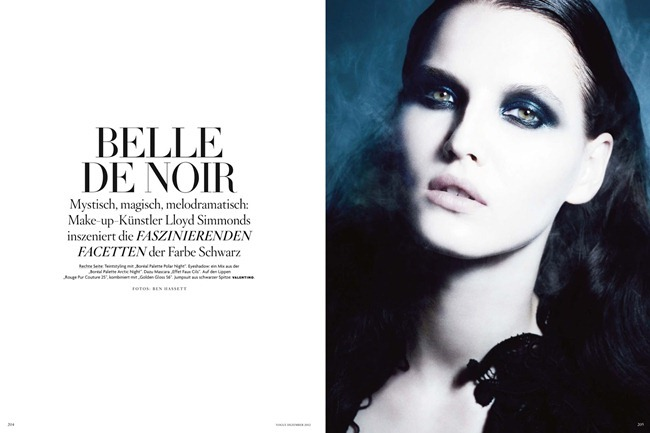 VOGUE GERMANY- Katlin Aas in Delle De Noir by Ben Hassett. Nicola Knels, December 2012, www.imageamplified.com, Image Amplified