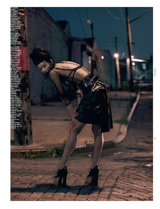 DAZED & CONFUSED MAGAZINE- Dinara, Lily Zhi, Soo Joo, So Young & Tian Yi in #happyendings by Terry Tsiolis. Karen Langley, December 2012, www.imageamplified.com, Image Amplified (9)
