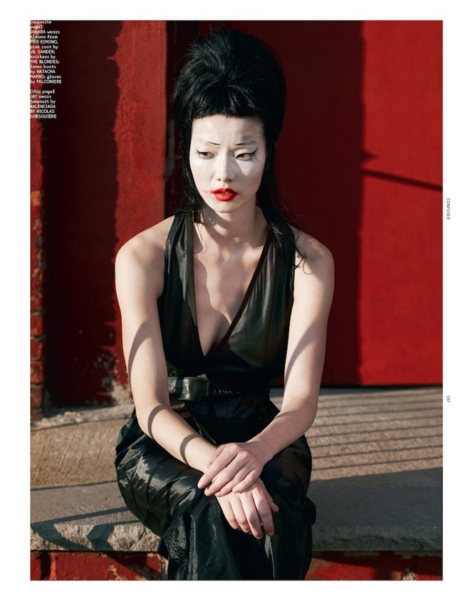 DAZED & CONFUSED MAGAZINE- Dinara, Lily Zhi, Soo Joo, So Young & Tian Yi in #happyendings by Terry Tsiolis. Karen Langley, December 2012, www.imageamplified.com, Image Amplified (1)