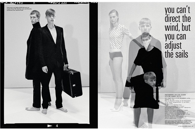 I-D MAGAZINE- Anders Johnson, Baptiste Radufe & Craig Rathgebur in You Can't Direct the Wind by Collier Schorr, Fall 2012, www.imageamplified.com, Image Amplified