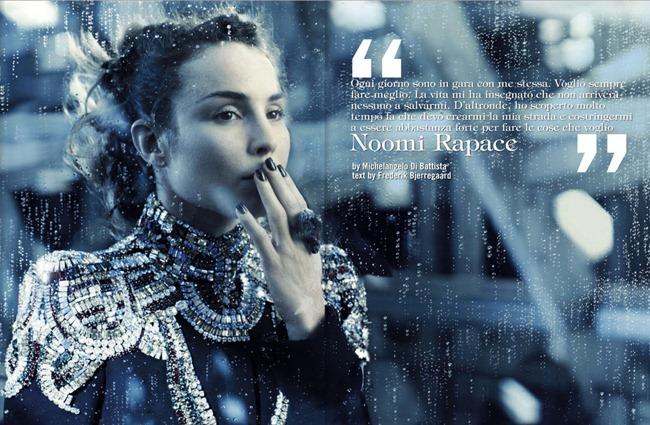 VOGUE ITALIA- Noomi Rapace by Michelangelo Di Battista. Alice Gentilucci, December 2012, www.imageamplified.com, Image Amplified