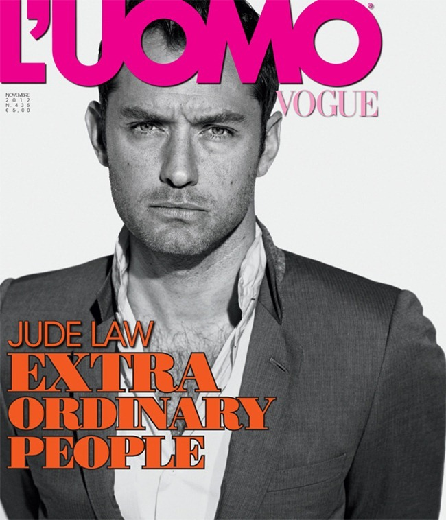 L'UOMO VOGUE- Jude Law in The Perfectionist by Peter Lindbergh. William Gilchrist. November 2012, www.imageamplified.com, Image Amplified