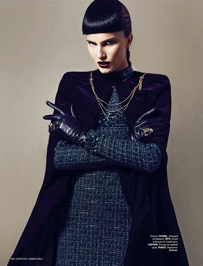 L'OFFICIEL UKRAINE- Alla Kostromichova in Top Model by Natali Arefieva. Alexander Rogov, November 2012, www.imageamplified.com, Image Amplified (2)