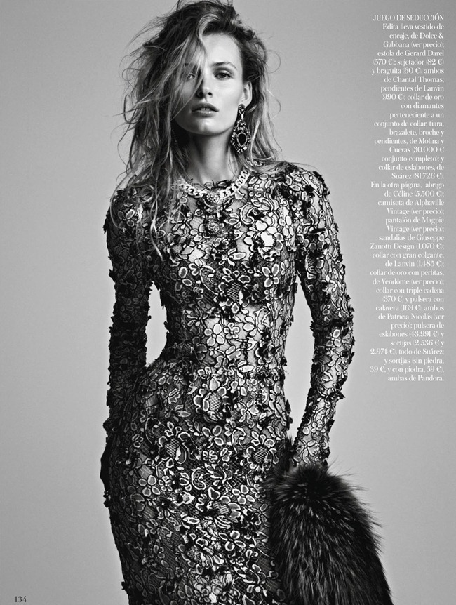 VOGUE SPAIN- Edita Vilkeviciute in El Efecto Vintage by Patrick Demarchelier. Belen Antolin, January 2013, www.imageamplified.com, Image Amplified