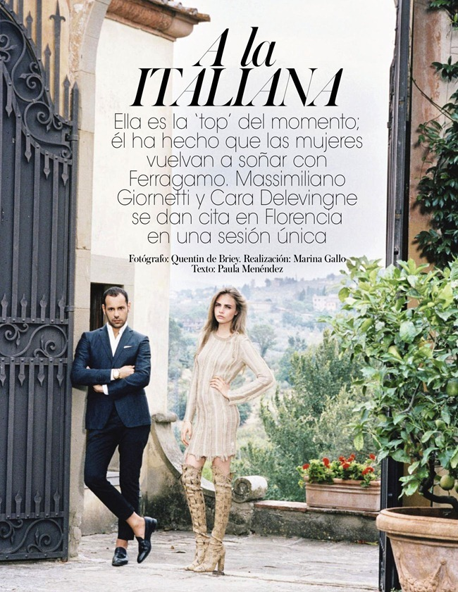VOGUE SPAIN- Cara Delevigne & Designer Massimiliano Giometti in A La Italiana by Quentin De Briey. Marina Gallo, January 2013, www.imageamplified.com, Image Amplified (1)