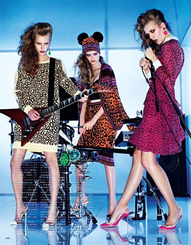 VOGUE JAPAN- Girls In The Band by Sharif Hamza. Giovanna Battaglia, February 2013, www.imageamplified.com, Image Amplified (2)