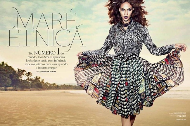 VOGUE BRAZIIL- Joan Smalls in Mare Ethnica by Henrique Gendre. Luis Fiod, January 2013, www.imageamplified.com, Image Amplified