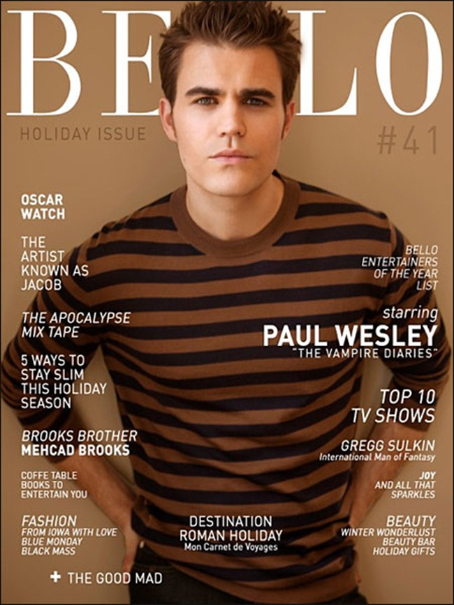 BELLO MAGAZINE- Paul Wesley in Bloody Good by Aleksander Tomovic. www.imageamplified.com, Image Amplified (1)