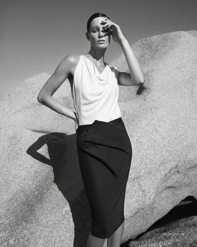BERGDORF GOODMAN- Iris Strubegger in Apex by Sanchez & Mongiello. Resort 2013, www.imageamplified.com, Image Amplified