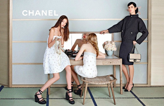 CAMPAIGN- Stella Tennant, Ondria Hardin & Yumi Lambert for Chanel Spring 2013 by Karl Lagerfeld. www.imageamplified.com, Image Amplified (3)