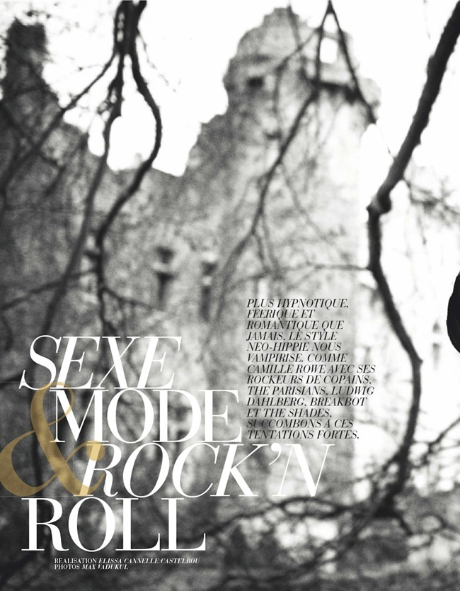 ELLE FRANCE- Camille Rowe in SExe, Mode & Rock'n Roll by Max Vadukul. Elissa Cannelle Castelbou, December 2012, www.imageamplified.com, Image Amplified (1)