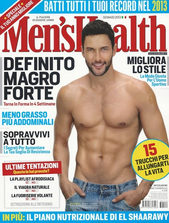 MEN'S HEALTH ITALIA- Noah Mills by Arash Radpour. January 2013, www.imageamplified.com, Image Amplified