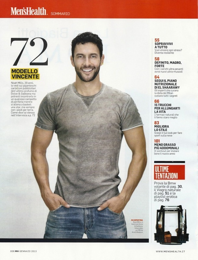 MEN'S HEALTH ITALIA- Noah Mills by Arash Radpour. January 2013, www.imageamplified.com, Image Amplified (2)