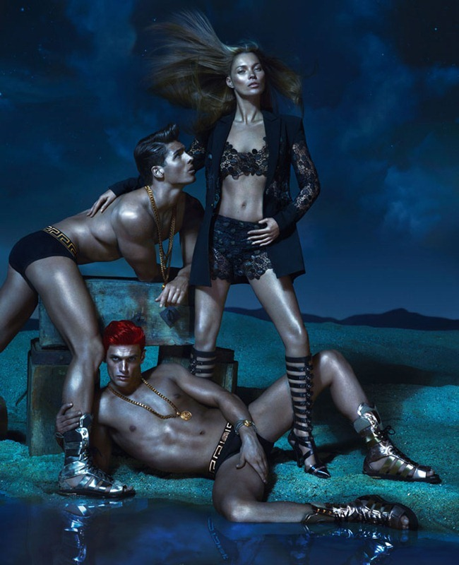 CAMPAIGN- Kate Moss, Edward Wilding, Kacey Carrig, Veit Couturier, Daria Werbowy & Joan Smalls for Versace Spring 2013 by Mert & Marcus. www.imageamplified.com, Image Amplified (10)