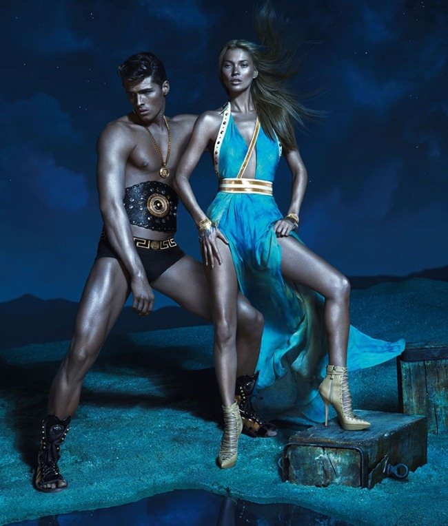 CAMPAIGN- Kate Moss, Edward Wilding, Kacey Carrig, Veit Couturier, Daria Werbowy & Joan Smalls for Versace Spring 2013 by Mert & Marcus. www.imageamplified.com, Image Amplified (12)