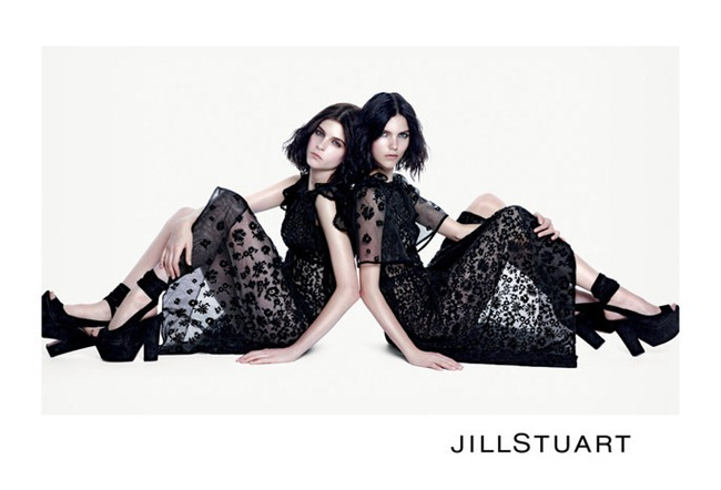 CAMPAIGN- Agnes Nabuurs & Kel Markey for Jill Stuart Spring 2013 by Mario Sorrenti. www.imageamplified.com, Image Amplified