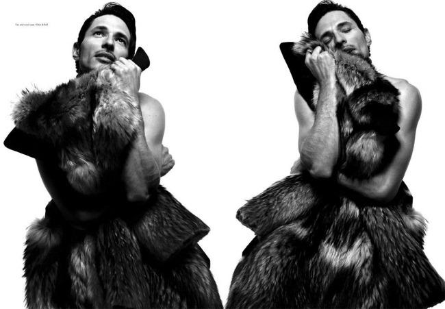 CANDY MAGAZINE- Andres Velencoso Segura in Fur God's Sake by Xevi Muntane. Ana Murillas, Winter 2012, www.imageamplified.com, Image Amplified