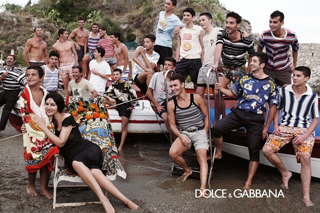 CAMPAIGN- Monica Bellucci & Others for Dolce & Gabbana Menswear Spring 2013 by Domenico Dolce. Stefano Gabbana, www.imageamplified.com, Image Amplified (4)