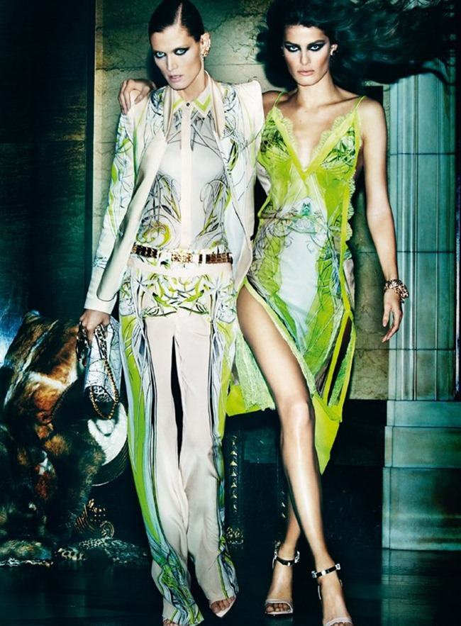 CAMPAIGN- Malgosia Bela, Isabeli Fontana & Sui He for Roberto Cavalli Spring 2013 by Mario Testino. www.imageamplified.com, Image Amplified (4)