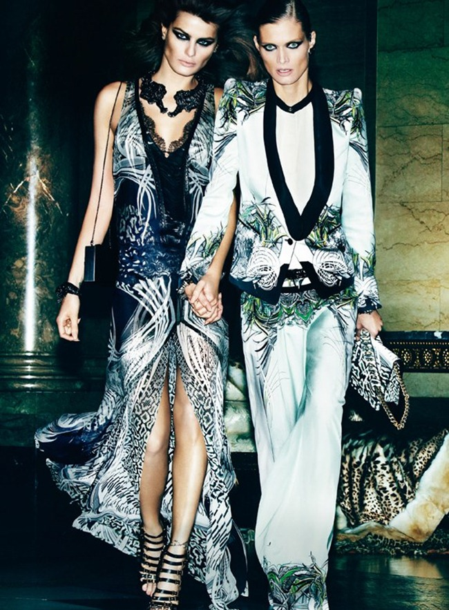 CAMPAIGN- Malgosia Bela, Isabeli Fontana & Sui He for Roberto Cavalli Spring 2013 by Mario Testino. www.imageamplified.com, Image Amplified (7)