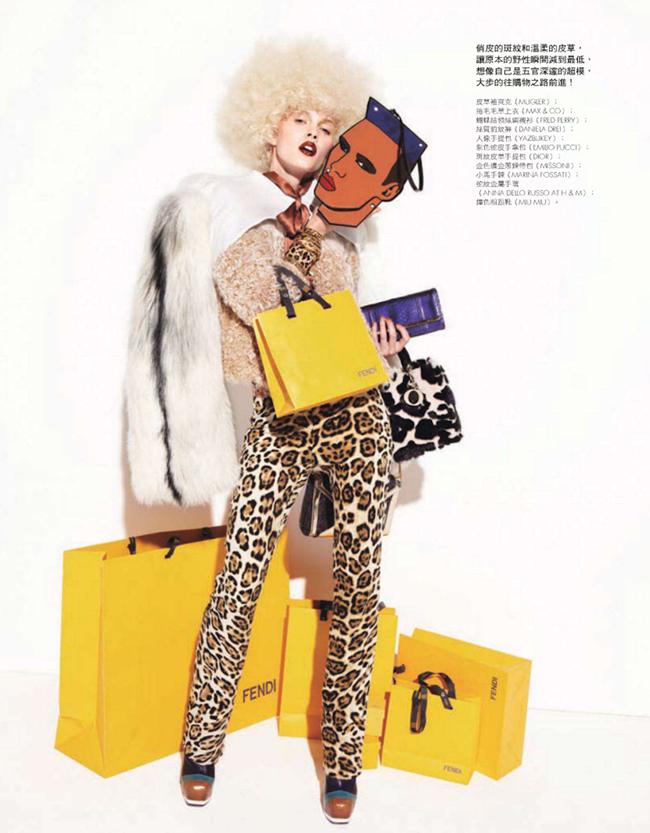 ELLE TAIWAN- Daria Popova & Atong Arjok in Crazy In Shopping by Mark Pillai. Carola Bianchi, January 2013, www.imageamplified.com, Image Amplified (6)