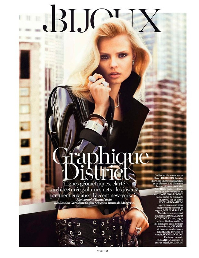 VOGUE PARIS- Magdalena Frackowiak in Bijoux by Txema Yeste. Geraldine Saglio, February 2013, www.imageamplified.com, Image Amplified