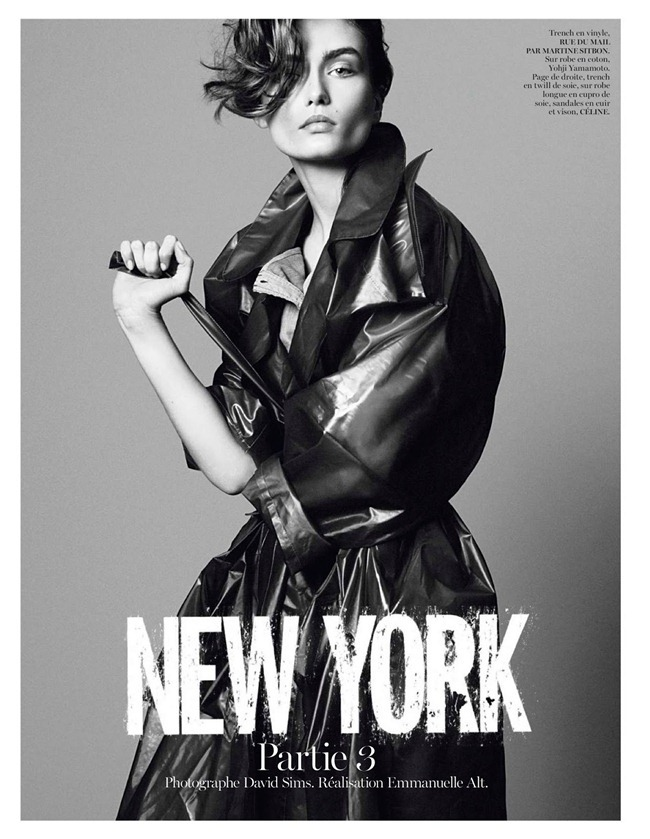 VOGUE PARIS- Andreea Diaconu in New York Partie 3 by David Sims. Emmanuelle Alt, February 2013, www.imageamplified.com, Image Amplified