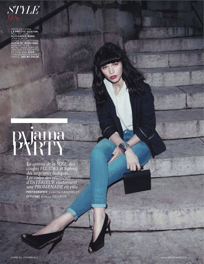 L'OFFICIEL PARIS- Anna Brewster in Pyjama Party by Camilla Armbrust. Helena Tejedor, February 2013, www.imageamplified.com, Image Amplified (2)