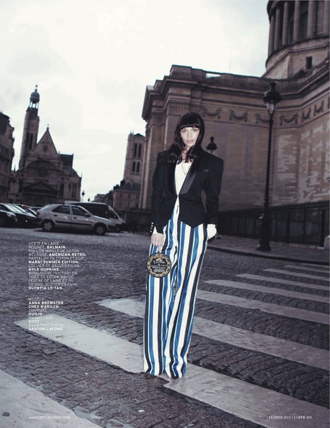 L'OFFICIEL PARIS- Anna Brewster in Pyjama Party by Camilla Armbrust. Helena Tejedor, February 2013, www.imageamplified.com, Image Amplified (9)