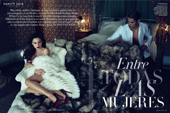 VANITY FAIR SPAIN- Monica Bellucci in Entre Las Mujeres by Mariano Vivanco. February 2013, www.imageamplified.com, Image Amplified