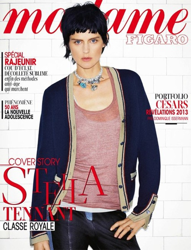 MADAME FIGARO FRANCE- Stella Tennant in Noble Icone by Benoit Peverelli. January 2013, www.imageamplified.com, Image Amplified