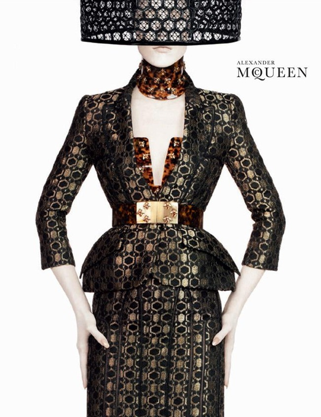 CAMPAIGN- Raquel Zimmermann for Alexander McQueen Spring 2013 by David Sims. www.imageamplified.com, Image Amplified