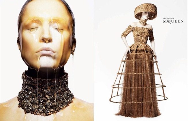 CAMPAIGN- Raquel Zimmermann for Alexander McQueen Spring 2013 by David Sims. www.imageamplified.com, Image Amplified (2)