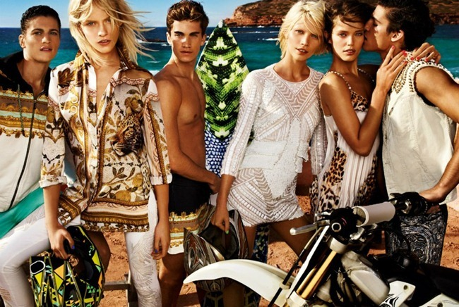 CAMPAIGN- Aline Weber, Emily DiDonato, Ginta Lapina, Chris Bunn, Chris Petersen & Thomas Guarracino for Just Cavalli Spring 2013 by Giampaolo Sgura. www.imageamplified.com, Image Amplified
