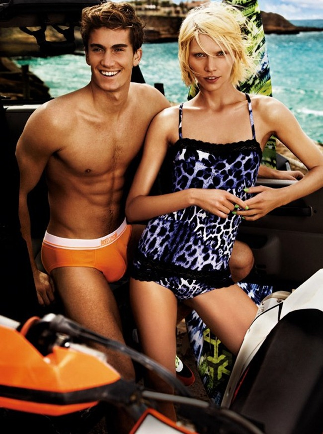 CAMPAIGN- Aline Weber, Emily DiDonato, Ginta Lapina, Chris Bunn, Chris Petersen & Thomas Guarracino for Just Cavalli Spring 2013 by Giampaolo Sgura. www.imageamplified.com, Image Amplified (7)