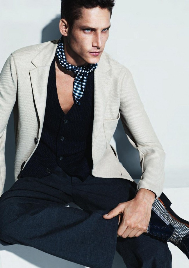 CAMPAIGN- Roch Barbot for Giorgio Armani Menswear Sprign 2013 by Mert & marcus. www.imageamplified.com, Image Amplified (3)