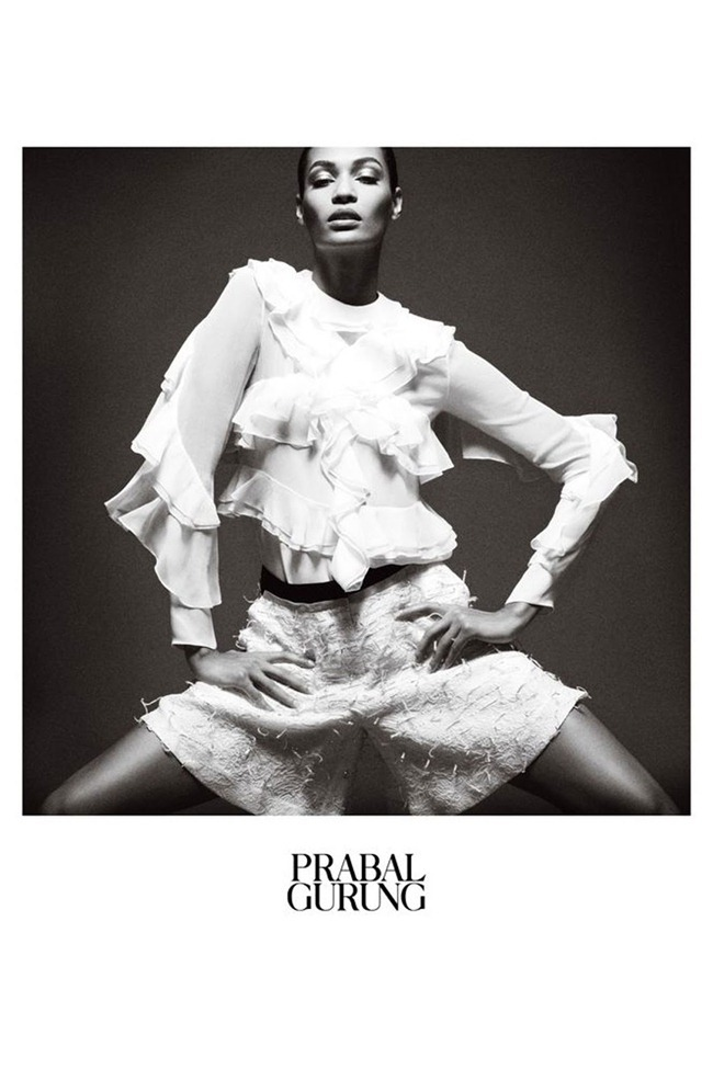 CAMPAIGN- Joan Smalls for Prabal Gurung Spring 2013. www.imageamplified.com, Image Amplified