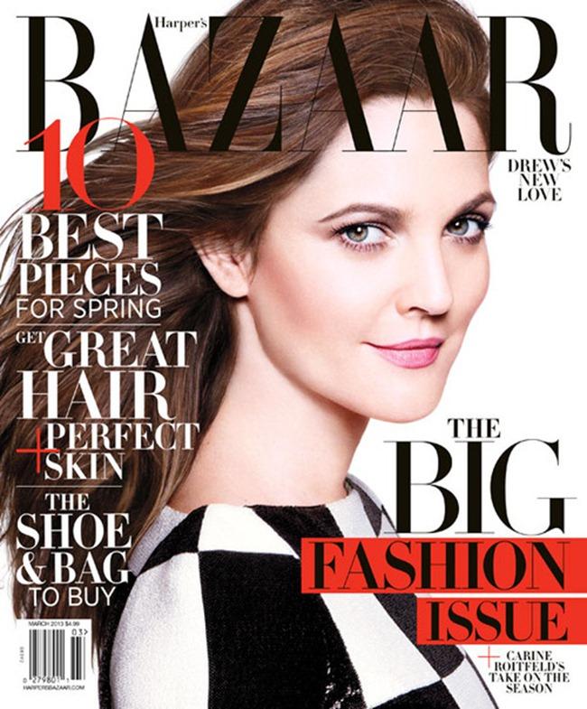 HARPER'S BAZAAR MAGAZINE- Drew Barrymore by Daniel Jackson. March 2013, www.imageamplified.com, Image Amplified