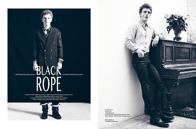 DANSK MAGAZINE- Benjamin Eidem in Black Rope by Stefan Zschernitz. Toby Grimditch, Spring 2013, wwww.imageamplified.com, Image Amplified