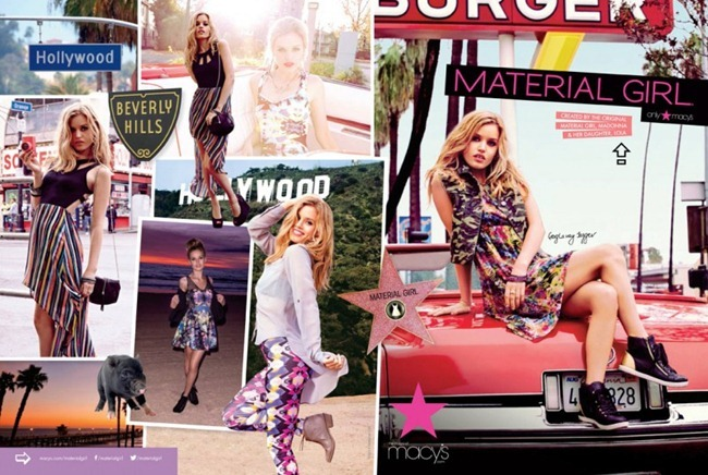 CAMPAIGN- Georgia May Jagger for Material Girl Spring 2013. www.imageamplified.com, Image Amplified